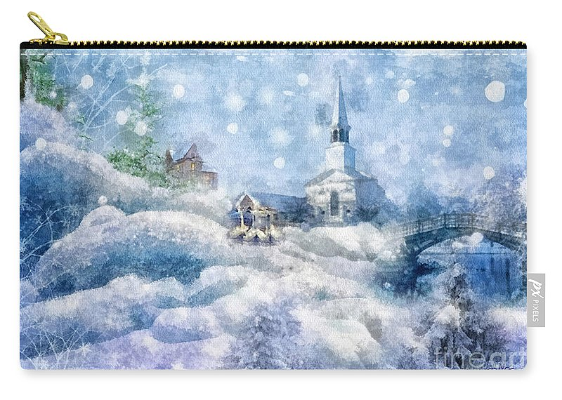A Christmas To Remember Carry-all Pouch featuring the painting A Christmas To Remember by Mo T