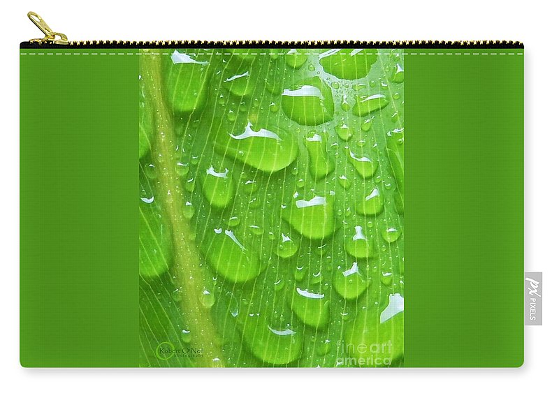 Plant Carry-all Pouch featuring the photograph A Cleansing Morning Rain by Robert ONeil