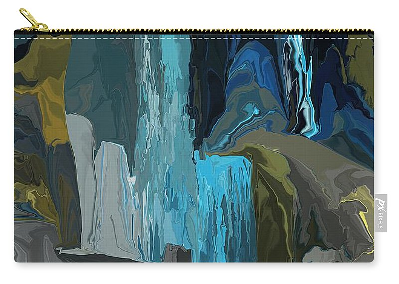 Fine Art Carry-all Pouch featuring the digital art A Cold Sunday Morning Doodle 122312 by David Lane