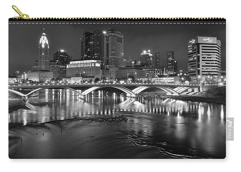 Columbus Carry-all Pouch featuring the photograph A Columbus Night by Frozen in Time Fine Art Photography