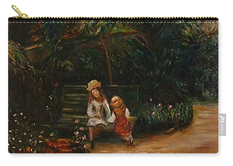Classic Art Carry-all Pouch featuring the painting A Corner Of The Garden At The Hermitage by Silvana Abel