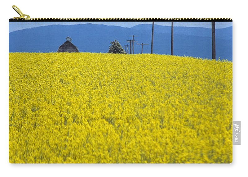 Canola Carry-all Pouch featuring the photograph A Country Mile by Sharon Elliott