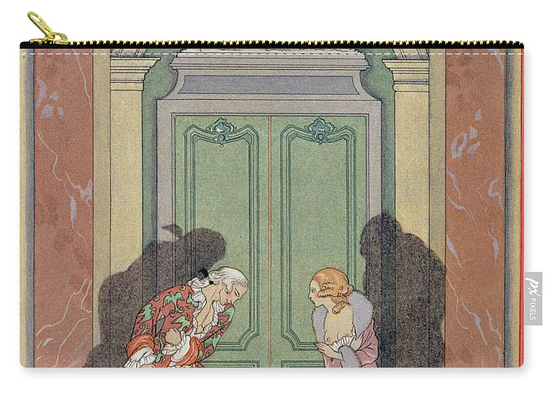 Male Carry-all Pouch featuring the painting A Couple In Candlelight by Georges Barbier