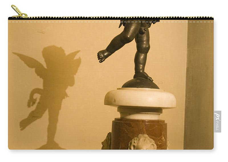 Travel Carry-all Pouch featuring the photograph A Dancing Cupid In The Palazzo Vecchio by Jason O Watson
