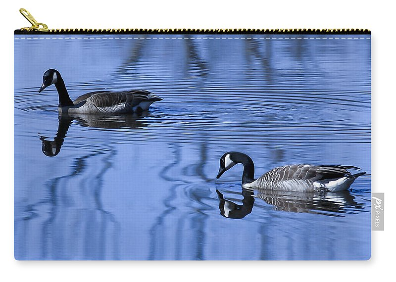 Animal Carry-all Pouch featuring the photograph A Day At The Lake by Jack R Perry