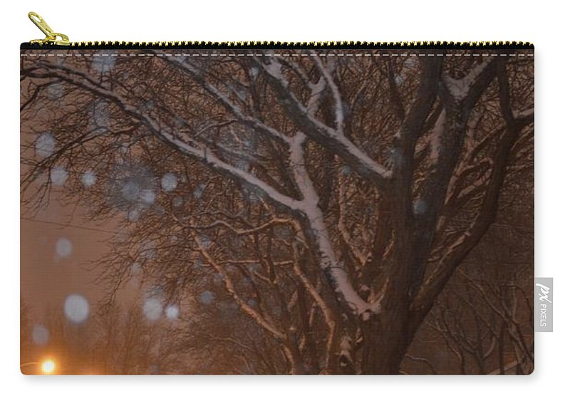 Canvas Art Carry-all Pouch featuring the photograph A December Night by Sonali Gangane