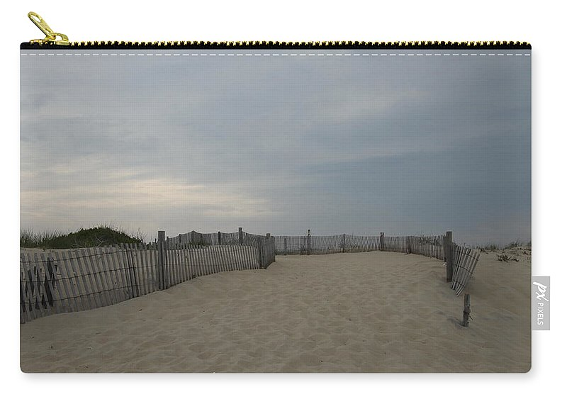 Beach Carry-all Pouch featuring the photograph A Delaware Beach by Christiane Schulze Art And Photography