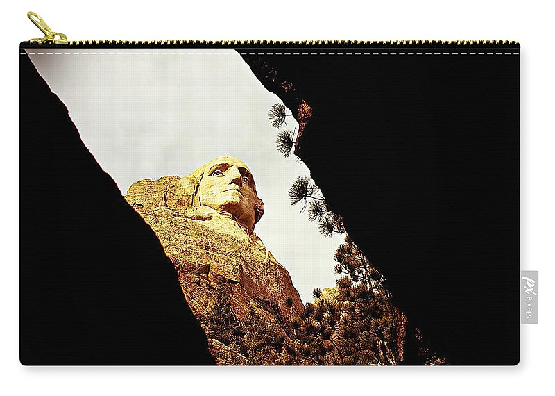 Mount Rushmore National Memorial Carry-all Pouch featuring the photograph A Different View by Adam Vance