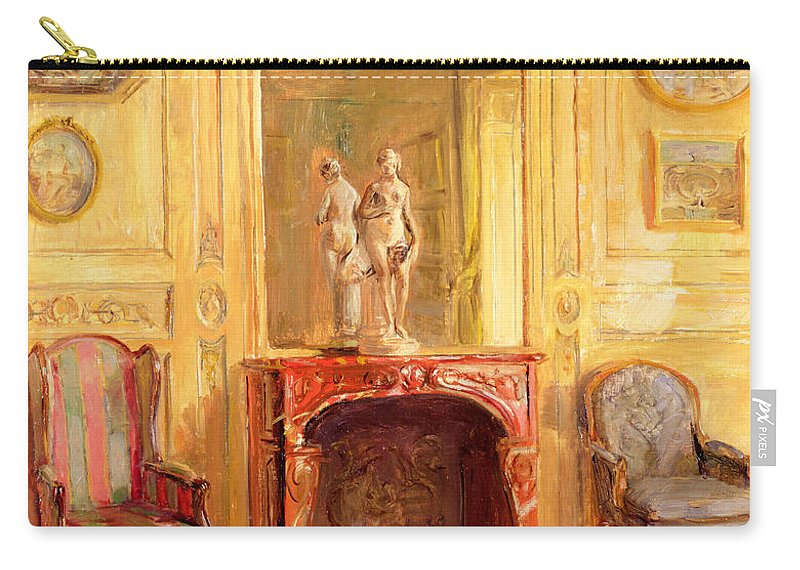 Fireplace Carry-all Pouch featuring the painting A Drawing Room by Walter Gay