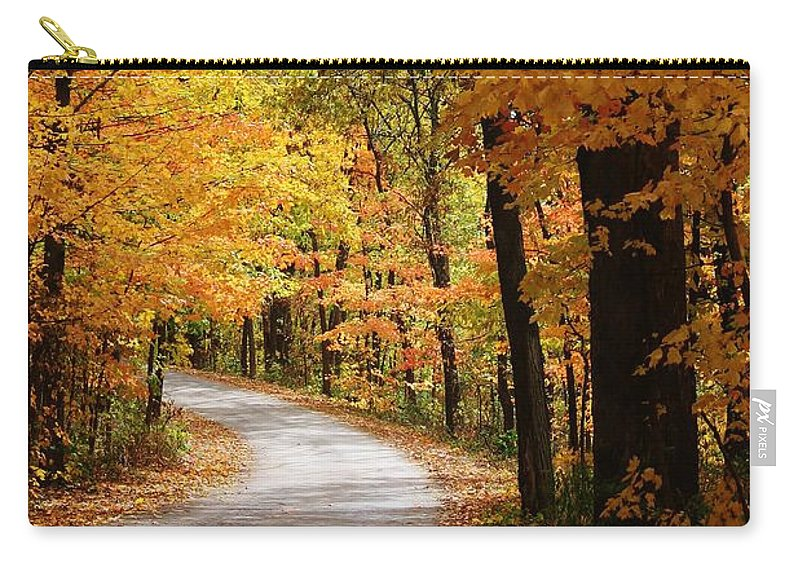 Woodland Carry-all Pouch featuring the photograph A Drive Through The Woods by Bruce Bley