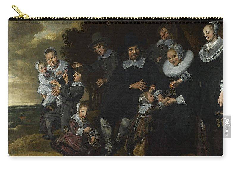 Frans Hals Carry-all Pouch featuring the painting A Family Group In A Landscape by Frans Hals