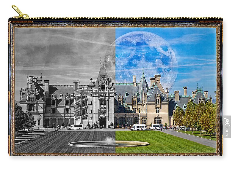 Biltmore Carry-all Pouch featuring the mixed media A Feeling Of Past And Present by Betsy Knapp