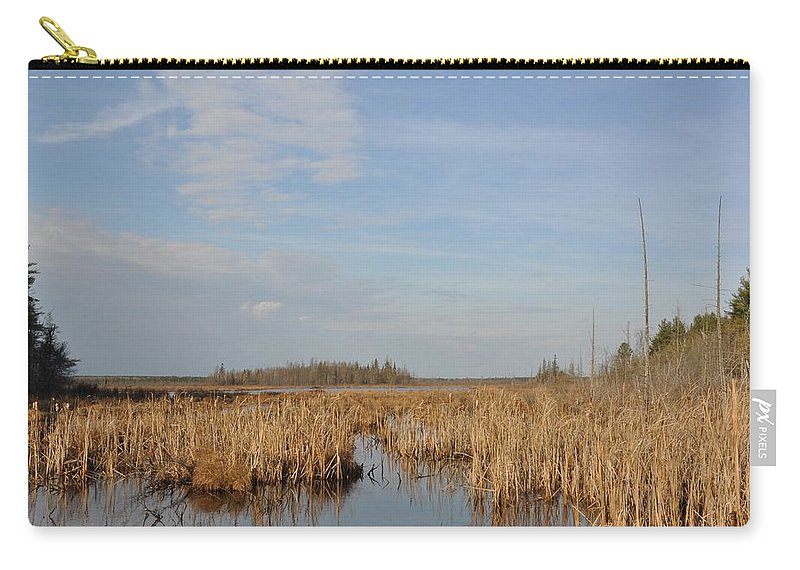 Marsh Carry-all Pouch featuring the photograph A Fine Place For Ducks by Valerie Kirkwood