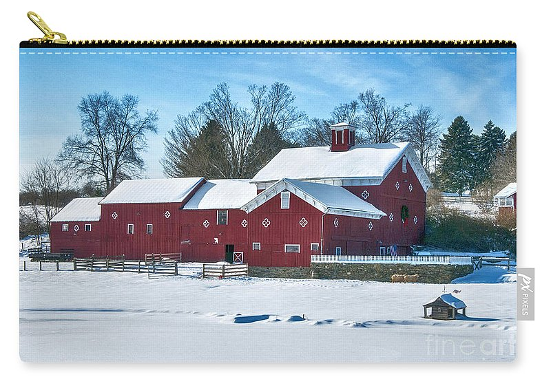 Hdr Carry-all Pouch featuring the photograph A Fine Winter Day by Claudia Kuhn