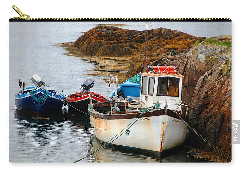 Boat Carry-all Pouch featuring the photograph A Fishing We Will Go by Charlie and Norma Brock