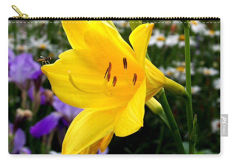 Lily Carry-all Pouch featuring the photograph A Fly In The Ointment by Kathy McClure