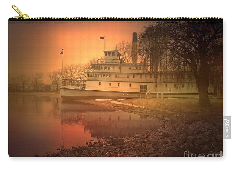 Ss Sicamous Carry-all Pouch featuring the photograph A Foggy Sunrise by Tara Turner