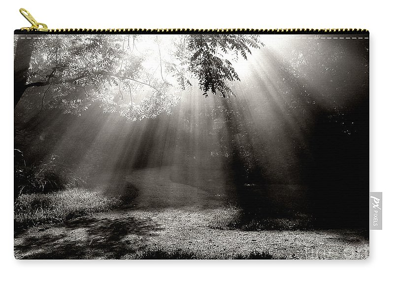 Road Carry-all Pouch featuring the photograph A Fork In The Road by Douglas Stucky