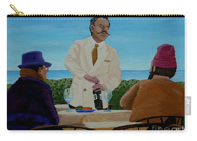 Wine Carry-all Pouch featuring the painting A Fresh Bottle by Anthony Dunphy