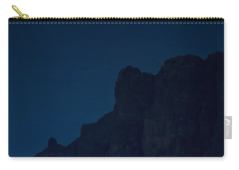 Full Moon Carry-all Pouch featuring the photograph A Full Spring Moon by Saija Lehtonen
