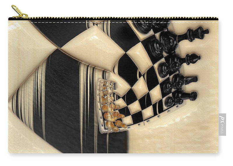 A Game Of Chess Carry-all Pouch featuring the photograph A Game Of Chess by Liane Wright