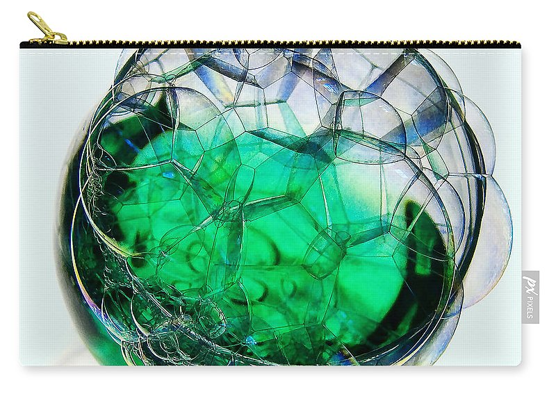 Glass Carry-all Pouch featuring the photograph A Glass Of Bubbly by Susie Peek