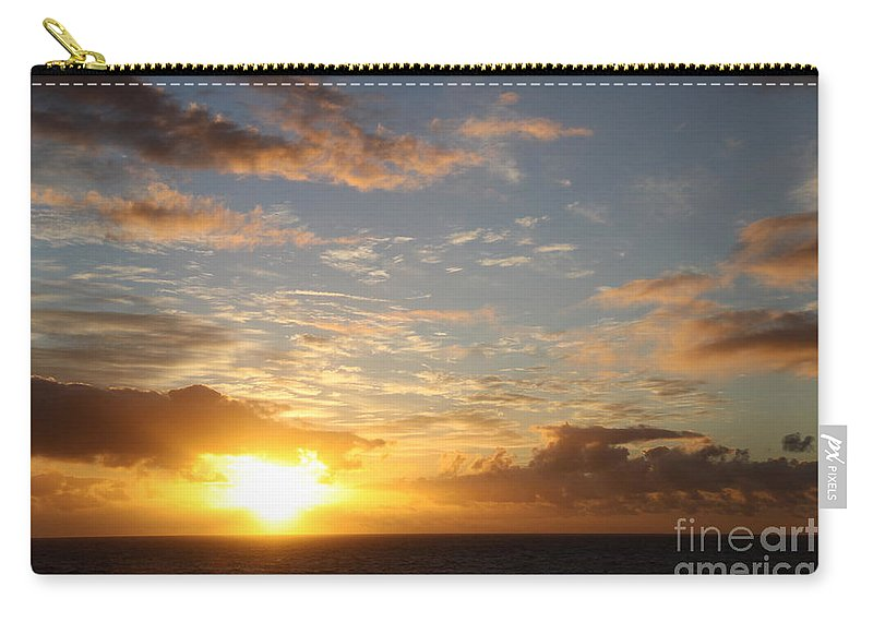 Sunrise Carry-all Pouch featuring the photograph A Golden Sunrise - Singer Island by Christiane Schulze Art And Photography