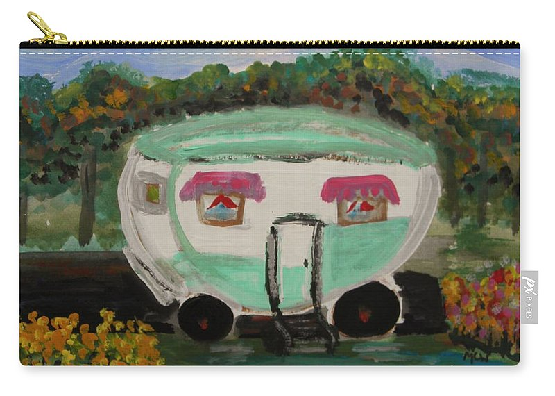 Trailer Carry-all Pouch featuring the painting A Good Spot by Mary Carol Williams