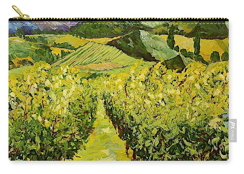 Landscape Carry-all Pouch featuring the painting A Good Year by Allan P Friedlander