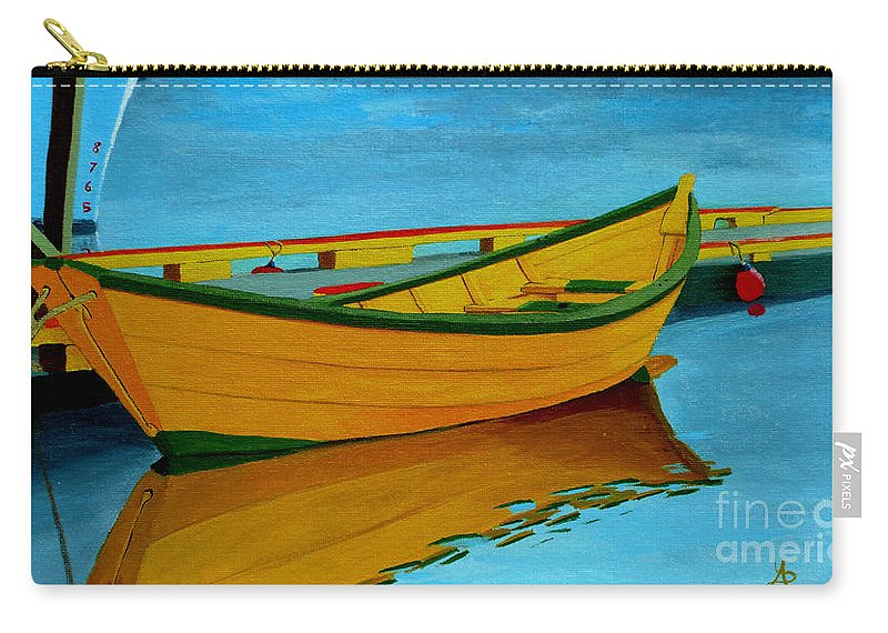 Grand Banks Carry-all Pouch featuring the painting A Grand Banks Dory by Anthony Dunphy