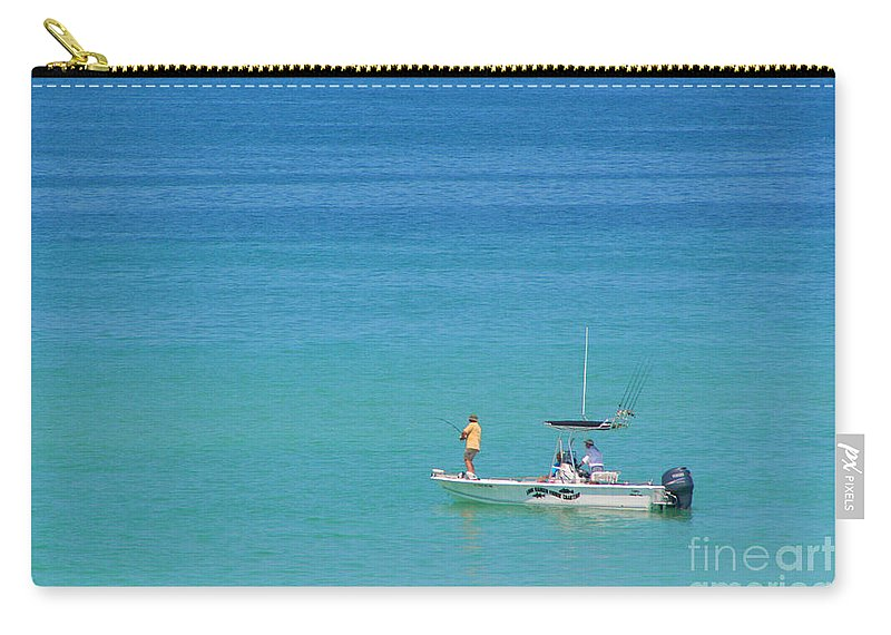 Boat Carry-all Pouch featuring the photograph A Great Way To Spend A Day by Mariarosa Rockefeller