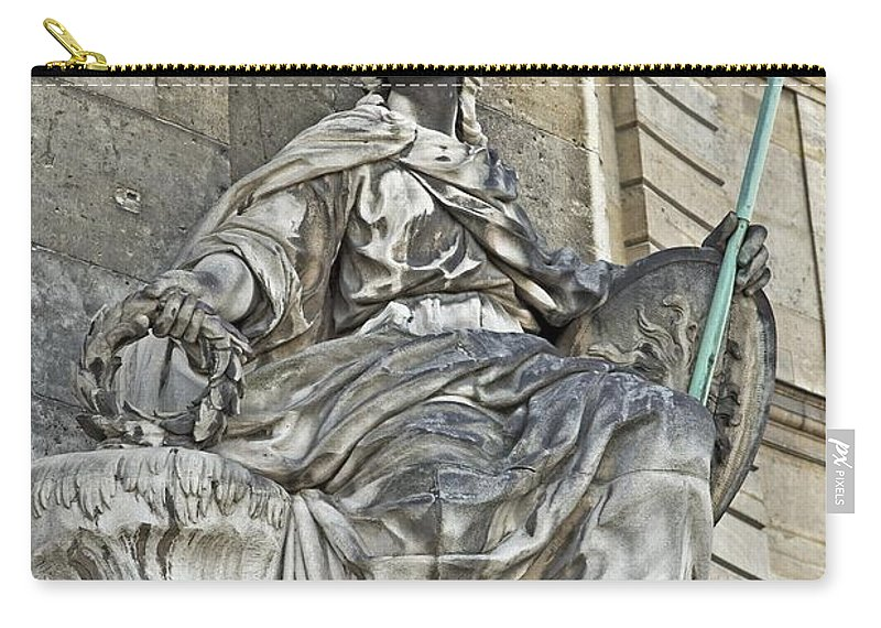 Army Museum Of France Carry-all Pouch featuring the photograph A Guardian Close-up - 2 by Hany J