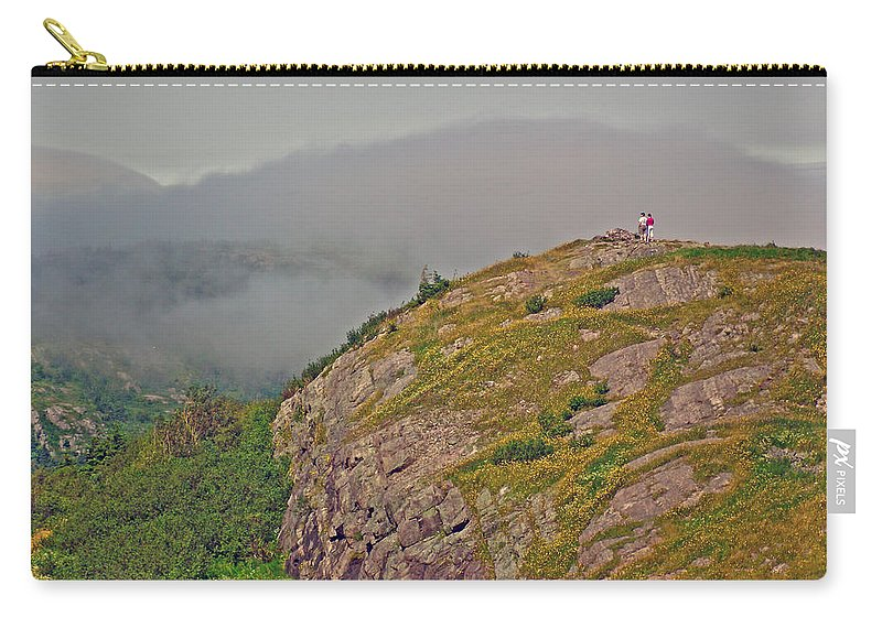A High Point On Signal Hill National Historic Site In Saint John's Carry-all Pouch featuring the photograph A High Point On Signal Hill National Historic Site In Saint John's-nl by Ruth Hager