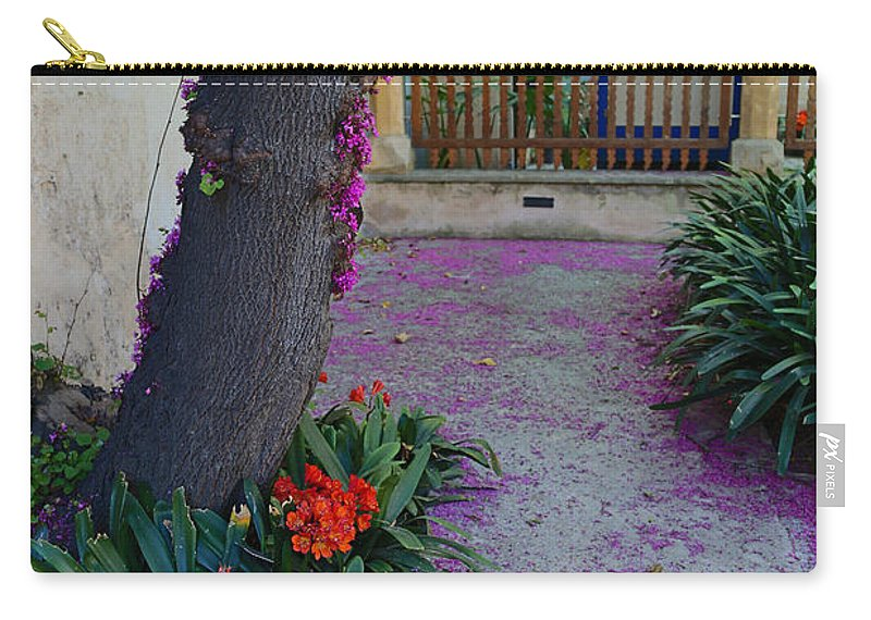 Flowers Carry-all Pouch featuring the photograph A Hint Of Spring by Rene Triay Photography