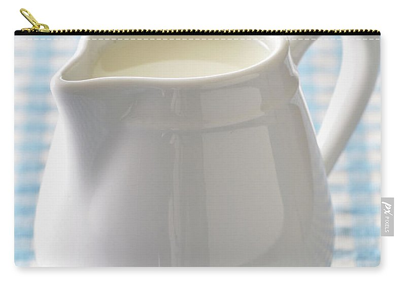 Single Object Carry-all Pouch featuring the photograph A Jug Of Cream by Riou