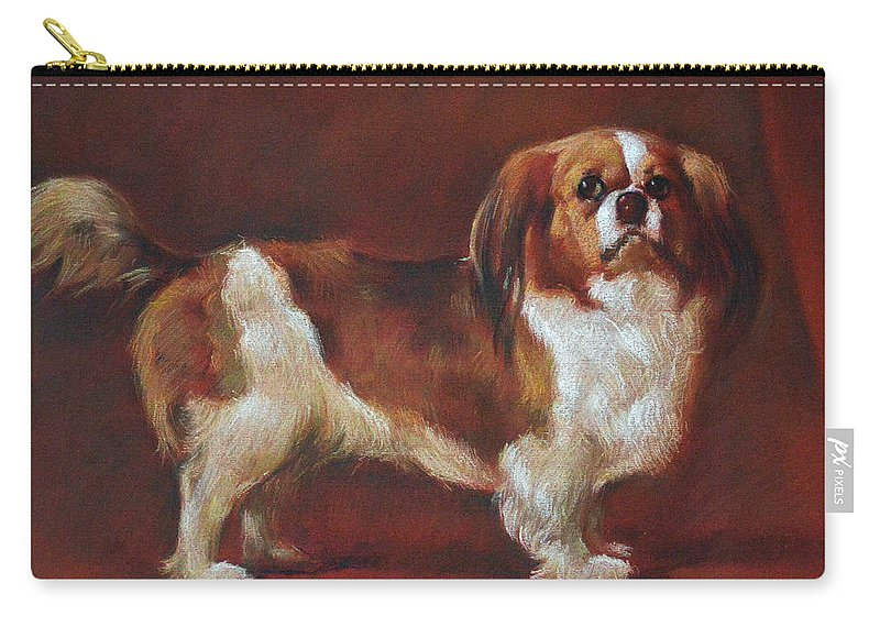 Pastel Carry-all Pouch featuring the pastel A King Charles Spaniel by Iliyan Bozhanov