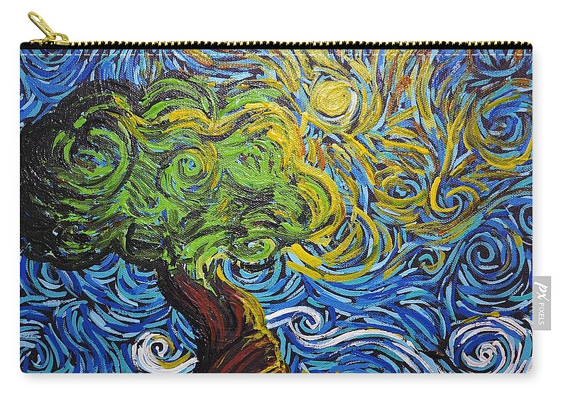 Tree Carry-all Pouch featuring the painting A Kiss Of Sun by Stefan Duncan