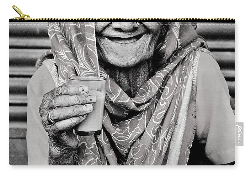 Valerie Rosen Carry-all Pouch featuring the photograph A Lady And Her Chai IIi by Valerie Rosen