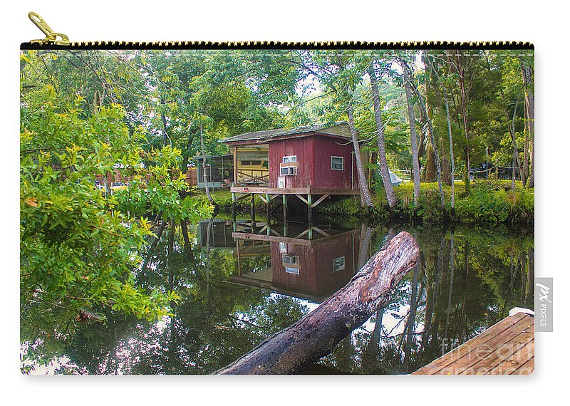 River Carry-all Pouch featuring the photograph A Lazy River Day by Rene Triay Photography