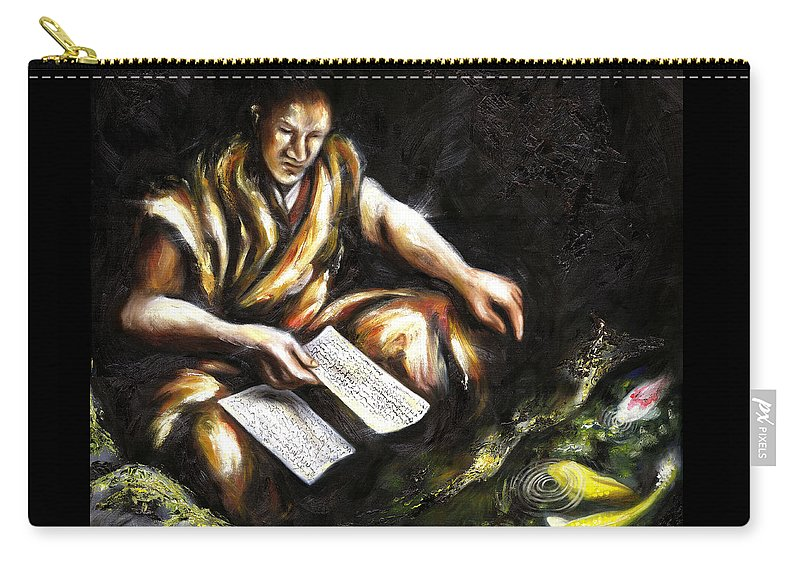 Japanesque Carry-all Pouch featuring the painting A Letter by Hiroko Sakai
