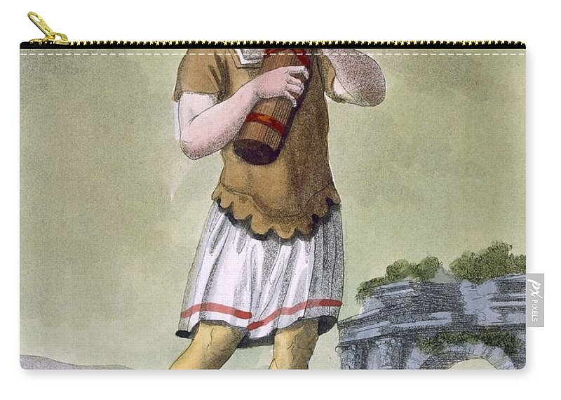 Male Carry-all Pouch featuring the drawing A Lictor, Bearer Of The Fasces by Jacques Grasset de Saint-Sauveur