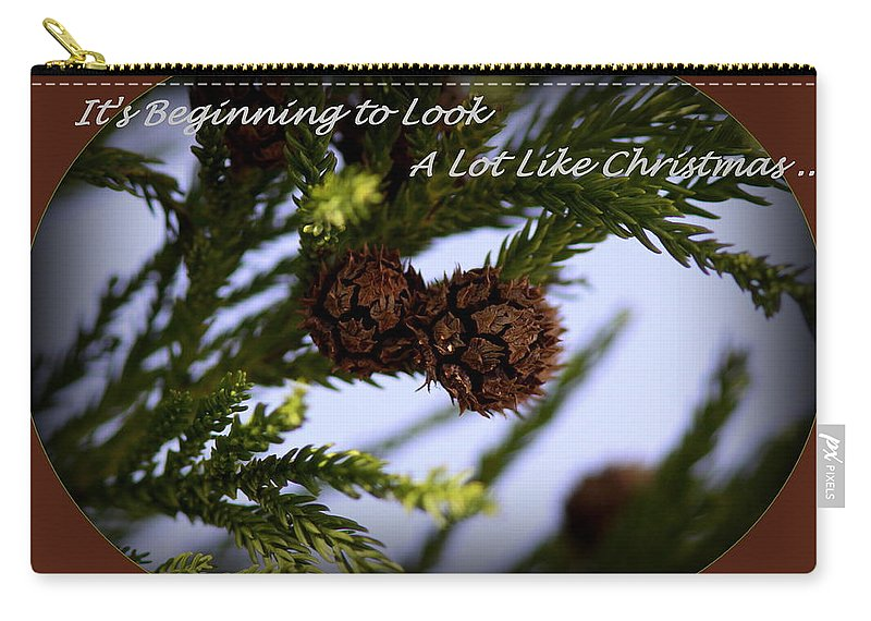 Greenery Carry-all Pouch featuring the photograph A Lot Like Christmas by Travis Truelove