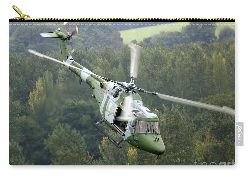 Lynx Carry-all Pouch featuring the photograph A Lynx Mk 7 Helicopter by Paul Fearn