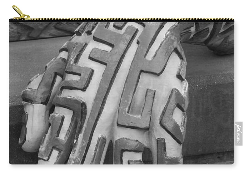 Maze Carry-all Pouch featuring the photograph A Maze Ing Hand Black And White by Rob Hans