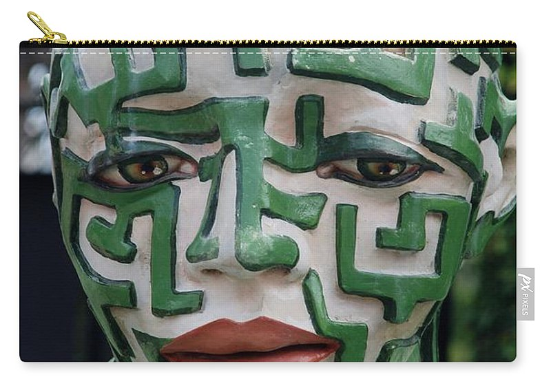 Maze Carry-all Pouch featuring the photograph A Maze Ing Man 3 by Rob Hans