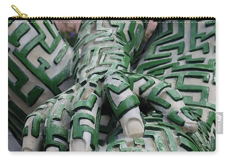 Maze Carry-all Pouch featuring the photograph A Maze Ing Man 4 by Rob Hans