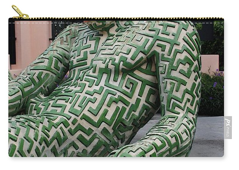 Maze Carry-all Pouch featuring the photograph A Maze Ing Man 5 by Rob Hans