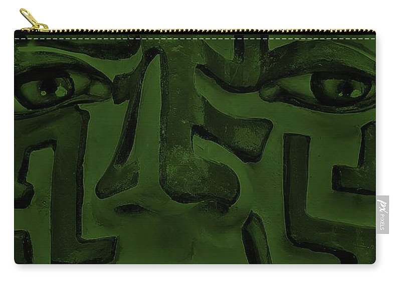 Maze Carry-all Pouch featuring the photograph A Mazing Olive Face by Rob Hans