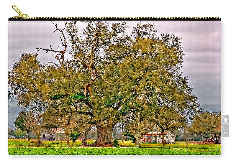 Oak Alley Plantation Carry-all Pouch featuring the photograph A Mighty Oak by Steve Harrington