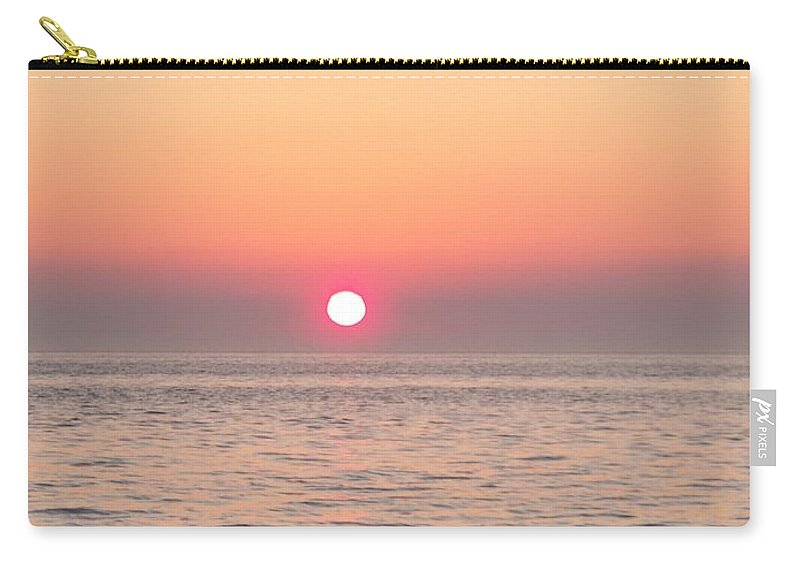 Sunset Carry-all Pouch featuring the photograph A Minute To Sunset by Eric Schiabor